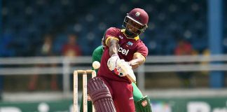 Evin Lewis made 91 off 51 balls
