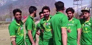 Kashmiris clad in Pakistan jerseys