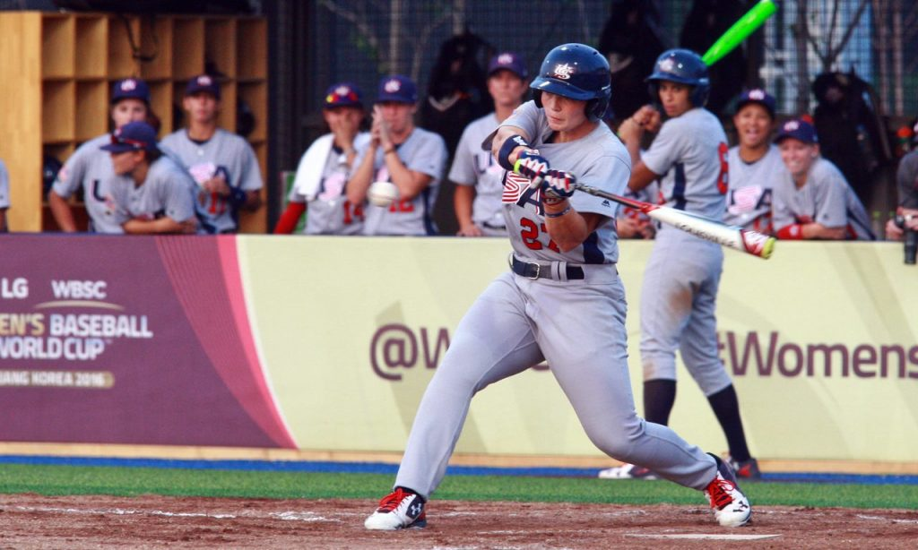 USA-v-NED-WBSC-Womens-Baseball-World-Cup