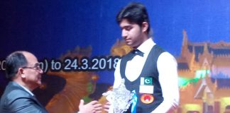 Haris Tahir receiving the Silver Medal