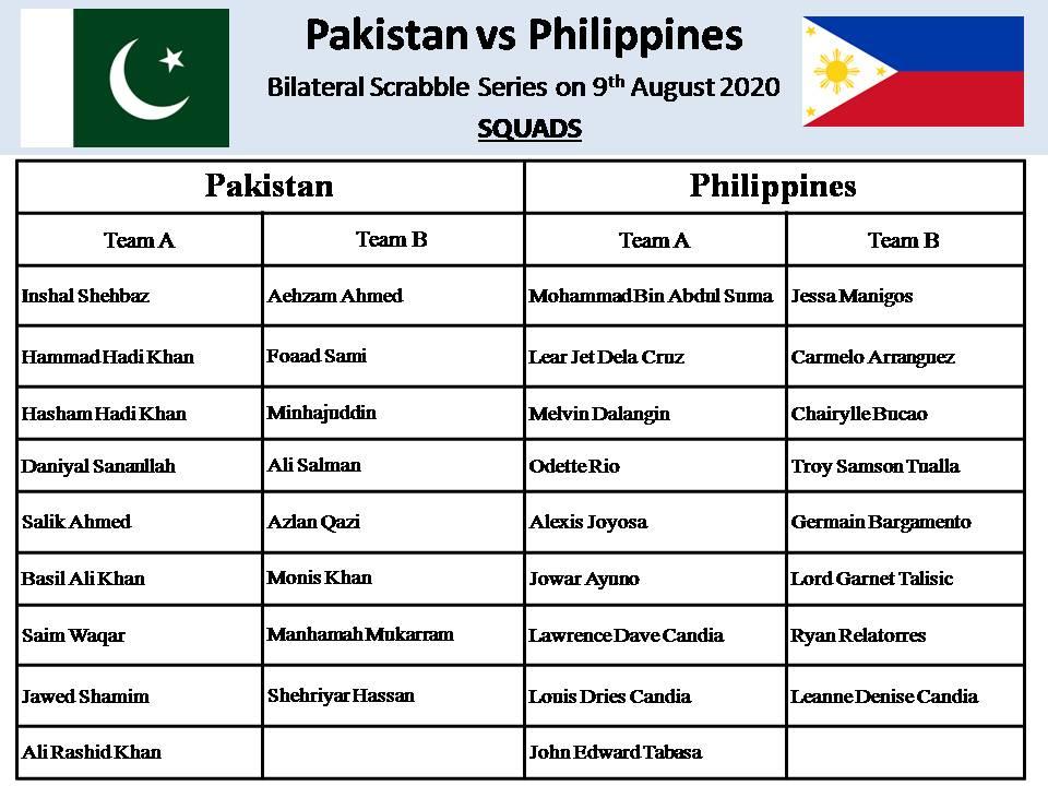 Pakistan vs Philippines Scrabble